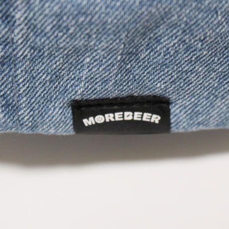 MORE BEER LOW CAP (WASH DENIM×RED)