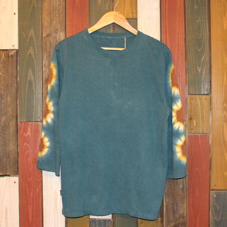 "JAVARA ""FLOWER LINE"" 3/4SLEEVE (DARK GREEN)"