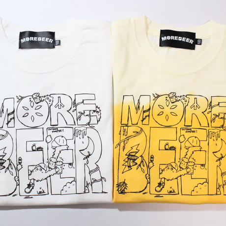 MORE BEER × Lock LOGO KID'S TEE(BEER COLOR)