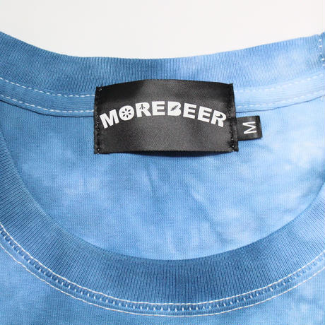 MORE BEER「BIG LOGO TEE(OCEAN MARBLE)」
