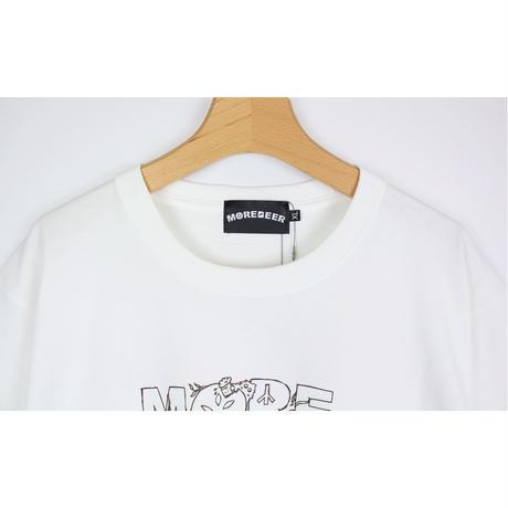 Lock × MORE BEER「MONSTER TEE(WHITE)」