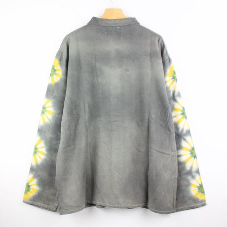 A HOPE HEMP × JAVARA「FLOWER LINE FLY FRONT SHIRTS JKT(GRAY)」