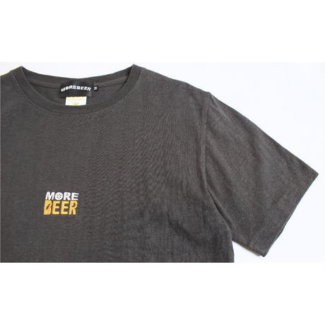 MORE BEER「CLASSIC LOGO HEMP TEE (BLACK)」