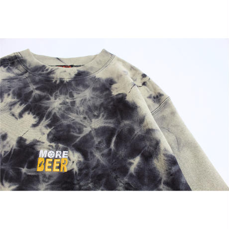 MORE BEER「LIMITED TIE DYE CLASSIC LOGO CREW#4」