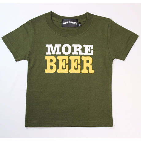 MORE BEER TYPE2 LOGO KID'S TEE(KHAKI)