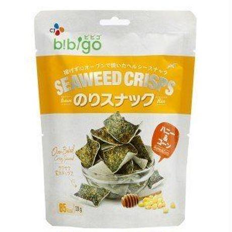 bibigoのりスナック ハニー&コーン(20g)/のりお菓子/韓国お菓子