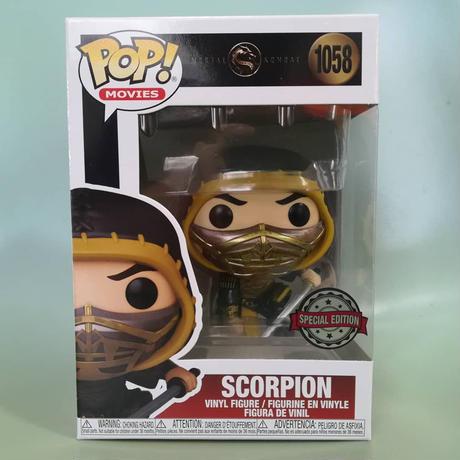 ファンコ ポップ  映画『モータルコンバット』スコーピオン(アクションポーズ)   Funko Pop! Movies: Mortal Kombat - Scorpion  (Action Pose)