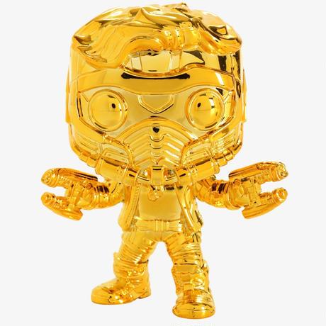 ファンコ ポップ マーベル10周年 スターロード(ゴールド)  Funko Pop! Marvel Studios The First Ten Years Star-Lord(GOLD CHROME)