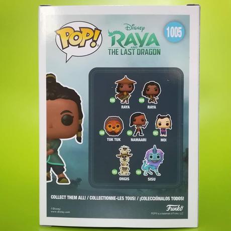 ファンコ ポップ ディズニー『ラーヤと龍の王国』ラーヤ & ベビートゥクトゥク Funko POP! Disney   Raya & Baby Tuk Tuk