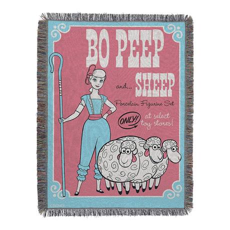 """トイストーリー4 タペストリー・ブランケット  Toy Story 4  Tapestry Throw Blanket """"Bo Peep"""""""
