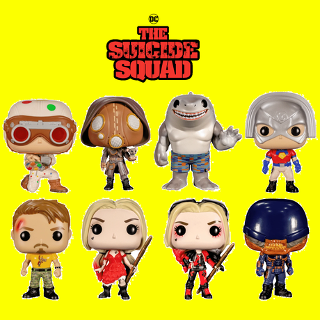 """ファンコ ポップ 映画『ザ・スーサイド・スクワッド """"極""""悪党、集結』8種セット FUNKO POP!   The Suicide Squad set of 8"""