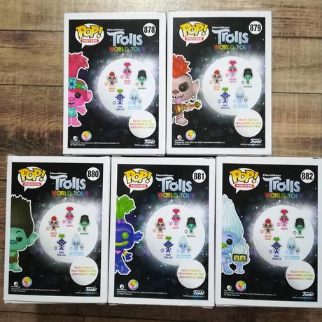 ファンコ  ポップ  映画『トロールズ ミュージック☆パワー』5種セット Funko POP! Trolls World Tour  Set of 5