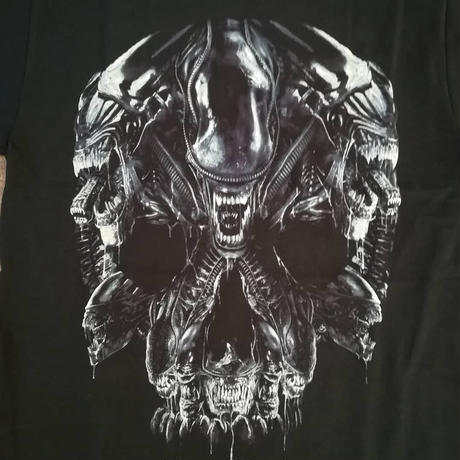『エイリアン』 Tシャツ   Alien Skull Montage Men's T-Shirt