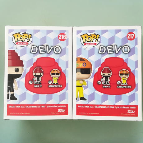 ファンコ ポップ 「ディーヴォ」2体セット  Funko Pop! Rocks: DEVO set of 2