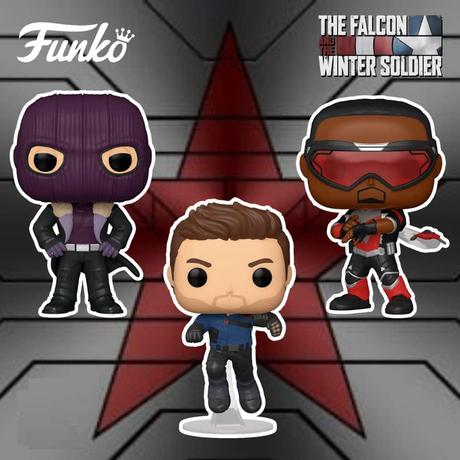 """ファンコ ポップ マーベル『ファルコン&ウィンター・ソルジャー』3種セット Funko POP!Marvel """"The Falcon and the Winter Soldier"""" set of 3"""