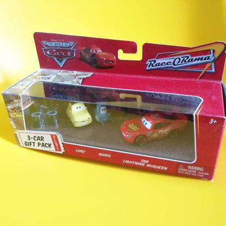 ディズニー・ピクサー カーズ  2009 マテル キャラクターカー 3CAR Gift Pack 【Tar Lightning McQueen /Luigi/Guido】