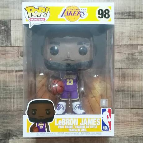 ファンコ ポップ 10インチ レブロン・ジェームズ LA レイカーズ パープルジャージ FUNKO POP! Lakers - Lebron James (Purple)  10inch