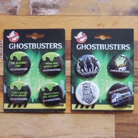 2009年デッドストック『ゴーストバスターズ』缶バッジ4個セット