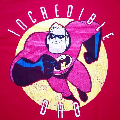 ピクサー『ミスター・インクレディブル』  Incredible DAD  Tシャツ