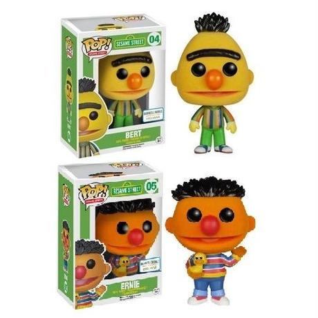 ファンコ ポップ  セサミ・ストリート バート&アーニー(フロック版) 3種セット  FUNKO POP SESAME STREET BERT & ERNIE(Flocked)