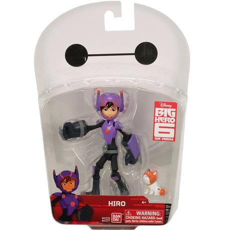 ベイマックス USバンダイ 5インチ アクションフィギュア   ヒロ・ハマダ  Bandai Big Hero 6 Action Figure  Hiro Hamada with Mochi