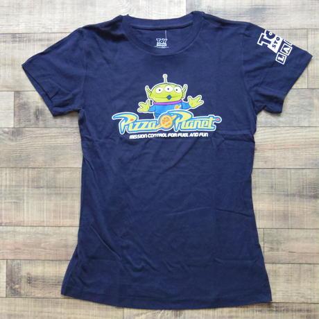 トイストーリー  『TOY STORY LAND』限定  レディース Tシャツ  【Pizza Planet】