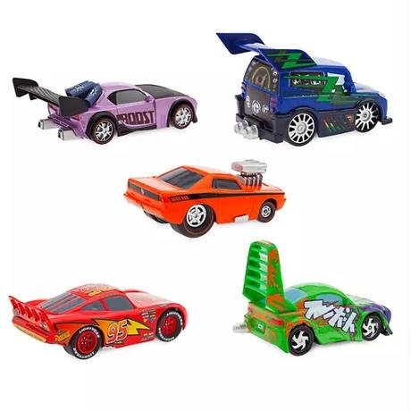 ディズニー・ピクサー カーズ   CARS 1/43  Pull 'N' Race Die Cast Car   Lightning McQueen & Tuners 5pc