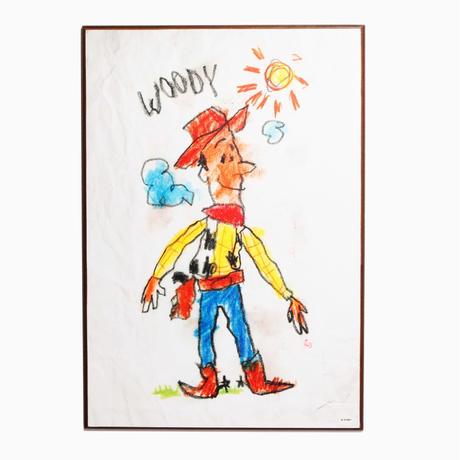 トイストーリー  バズ・ライトイヤー 木製ウォールアート  Woody Drawing