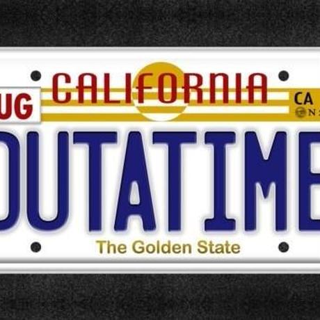 バックトゥザフューチャー「OUTATIME」アート  プリント Back To The Future OUTATIME Art Print