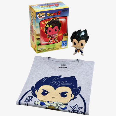 ファンコ  ポップ  『ドラゴンボールZ』ベジータ Tシャツセット Dragon Ball Z Vegeta  T-Shirt & Funko POP! (Metallic) Box Set