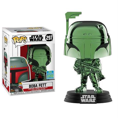 2019 コミコン限定 ファンコ  ポップ  『スターウォーズ』ボバ・フェット (グリーン・クローム) Funko POP! Star Wars - Boba Fett (Green Chrome)