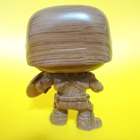 ファンコ  ポップ  マーベル キャプテン・アメリカ(木目調) Funko POP! MARVEL  Captain America Wood Deco