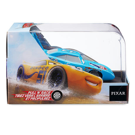 ディズニー・ピクサー カーズ   CARS 1/43  Pull 'N' Race Die Cast Car Strip ''The King'' Weathers