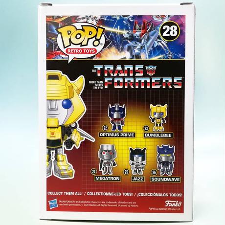 ファンコ  ポップ レトロトイ「 トランスフォーマー」バンブルビー with ウィング  FUNKO POP! Retro Toys - TRANSFORMERS BUMBLEBEE w/Wings