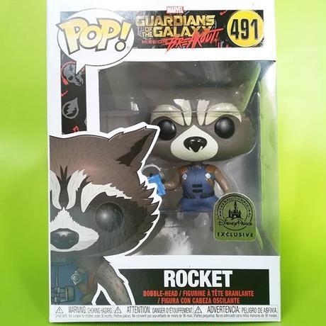 ファンコ ポップ Disney Parks限定 ガーディアンズ・オブ・ギャラクシー ロケット:ミッション・ブレークアウト  ロケット FUNKO POP! Rocket