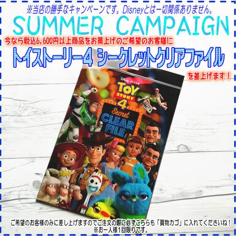 🌻サマーキャンペーン!🌻商品税込6600円以上お買上げで「トイストーリー4」クリアファイル プレゼント!