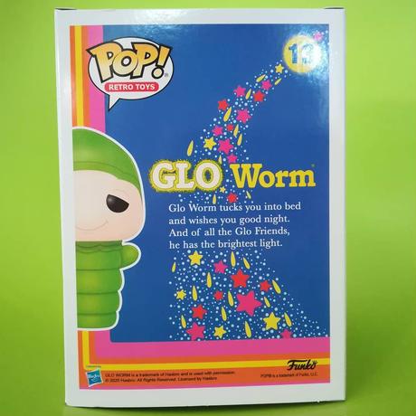 ファンコ ポップ  Hasbro Retro Toys シリーズ   Playskool GLO WARM (GITD)   プレイスクール グロ・ワーム