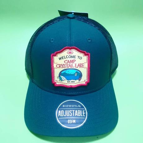 """映画『13日の金曜日』""""クリスタルレイク""""  キャンプ場  メッシュキャップ  大人用 Friday The 13th Camp Crystal Lake  Trucker Cap"""