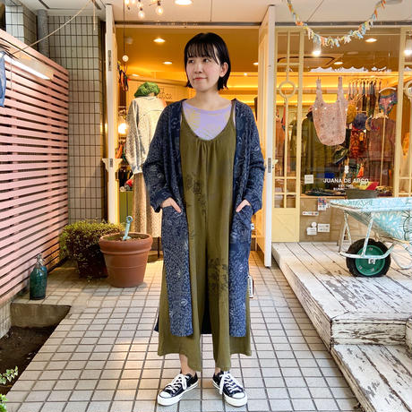 【waffle】オールインワン(カーキ・バラ柄)No.693