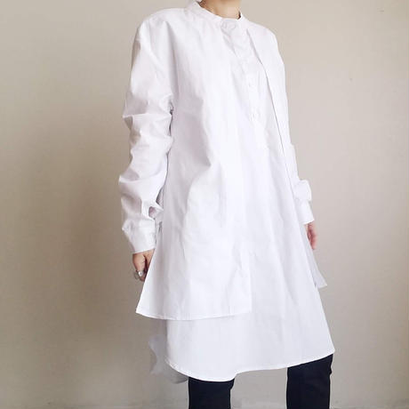 フロントリボンロングシャツ