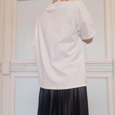 サイドカットコットンTシャツ