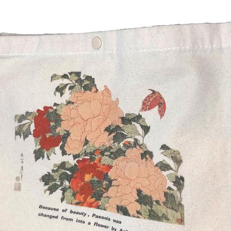 2101-1002 葛飾北斎 「牡丹に胡蝶」 サコッシュバック