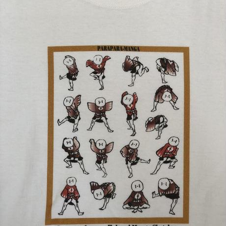 T-19-1006 北斎漫画 「雀踊り」Tシャツ Women 女性用