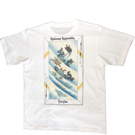 19-2001 葛飾北斎 「亀」 Tシャツ Mens男性用