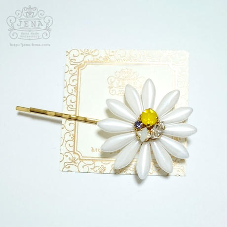BIG Flower Pin WHITE