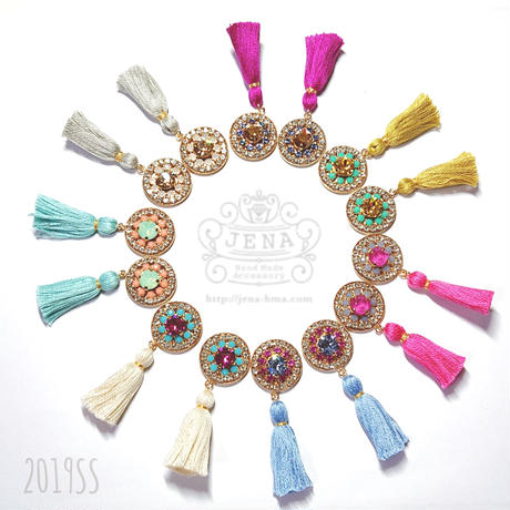 Circle Tassel イヤリング/ピアス 【chrysanthemum】