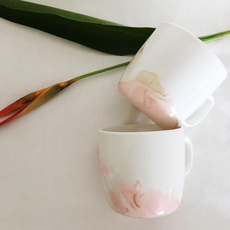 marble mug(pink × gold)【2個SET】