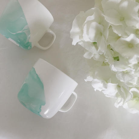marble mug (turquoise)【2個SET】