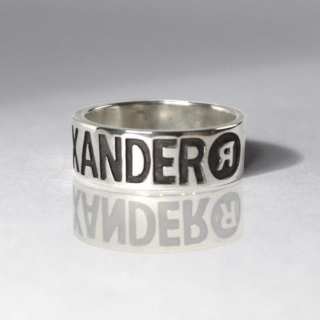 """ALEXANDER"" Silver Jewel Ring(L)"