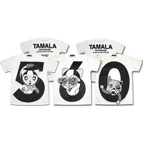 TAMALA The FIVE T-SHIRTS